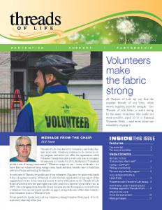 Threads newsletter cover, spring