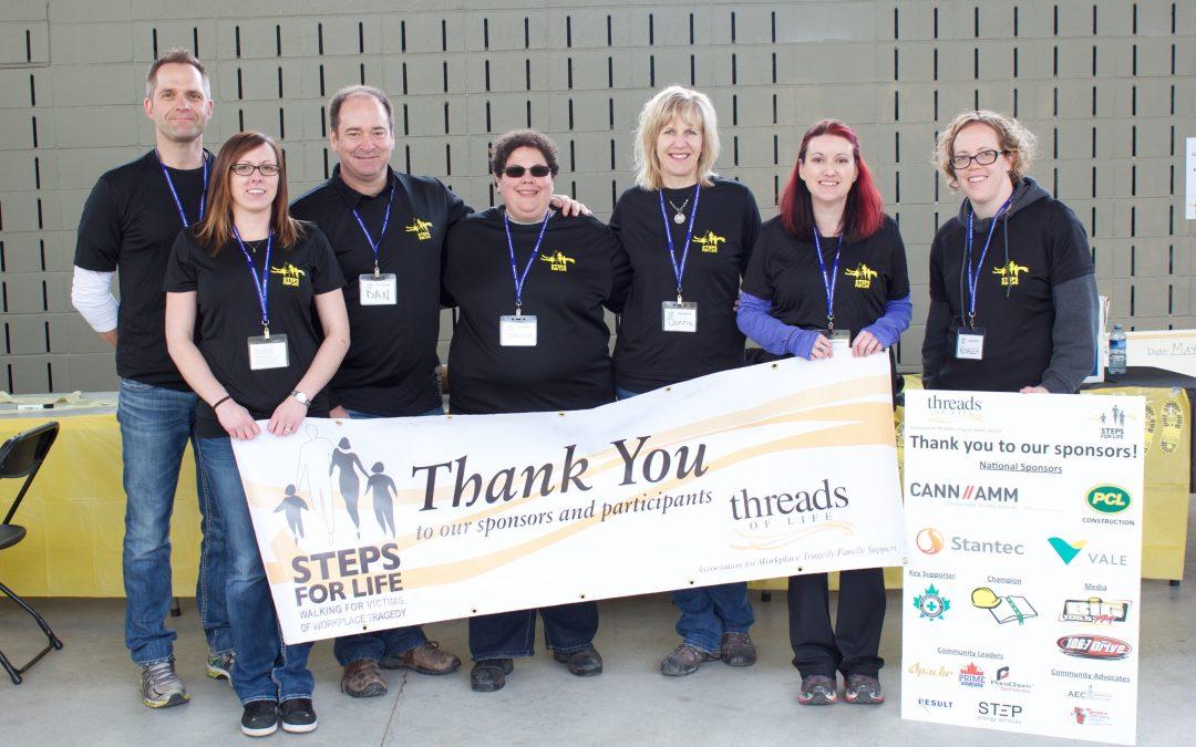 Great volunteers + great teamwork = Steps for Life success