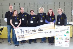 Group photo of Red Deer Steps for Life committee