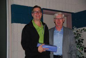 Dennis MacDonald (left) with board chairman Bill Stunt
