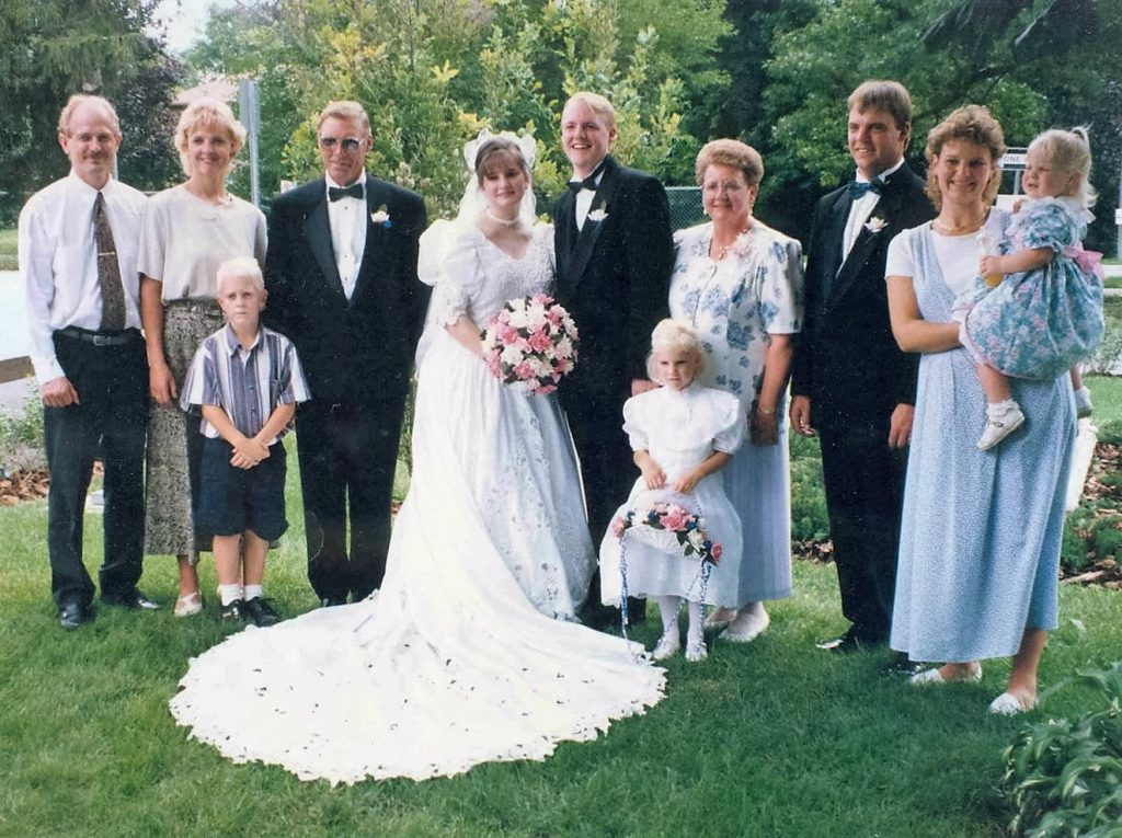 Van Rooyen family wedding photo, 1995