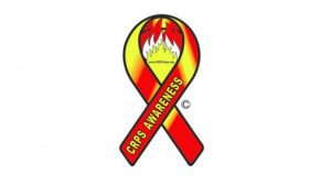 CRPS Awareness ribbon (red and yellow)