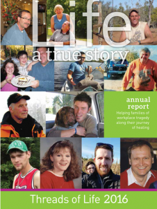 Collage of photos on cover of 2016 Annual Report