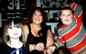 Donna Green with her grandchildren