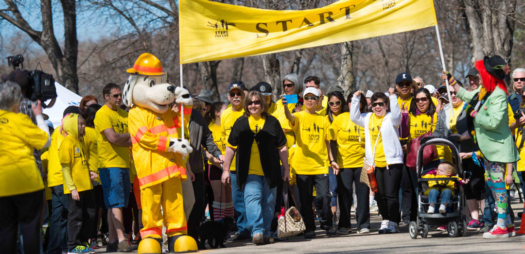 Start line at Steps for Life walk
