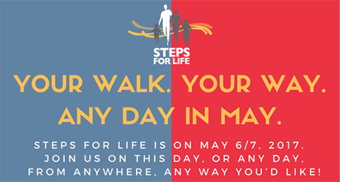 Your Walk. Your Way. Any day in May.
