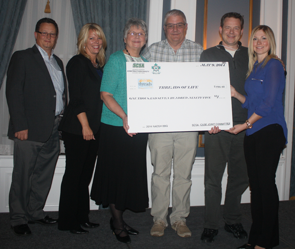 Giant cheque presentation from fundraisers