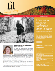 Fall newsletter cover French