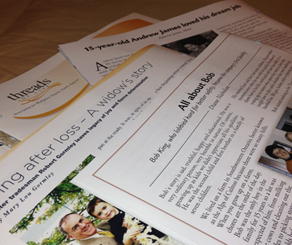 photo of Threads of Life newsletters