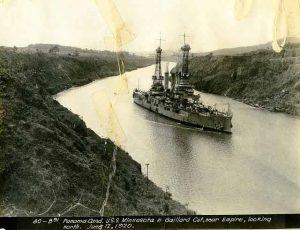 USS Minnesota in Panama Canal 1920