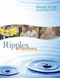 """Threads of Life Annual Report 2018 """"Ripples of Kindness"""""""