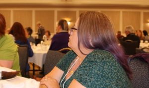 Audience listening to speaker