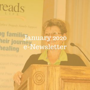 Woman standing a podium. Text overlay reads January 2020 e-Newsletter